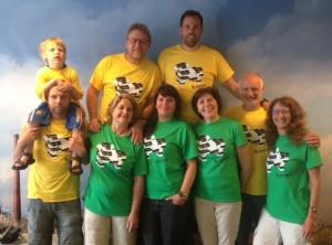 team potterspoort met T-shirts koe 21 mei 2014